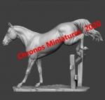 Лошадь - Трекенская порода (на подставке) - Фигурка, смола (набор для сборки из 6 деталей). Размер 54 мм (1:30)