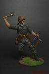 Автоматчик с гранатой, Вермахт (Германия). 1942-45 - Оловянный солдатик коллекционная роспись 54 мм. Все оловянные солдатики расписываются художником вручную