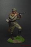 Автоматчик пехоты Красной Армии, 1943-45 гг. СССР - Оловянный солдатик коллекционная роспись 54 мм. Все оловянные солдатики расписываются художником вручную