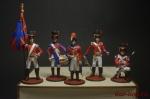 Набор оловянных солдатиков - Англичане в под коробке - Набор оловянных солдатиков 5 шт. Высота солдатиков 54 мм.