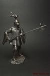 Английский рыцарь, XVI в. - Оловянный солдатик. Чернение. Высота солдатика 54 мм