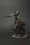 Рыцарь в бою - Оловянный солдатик. Чернение. Высота солдатика 54 мм