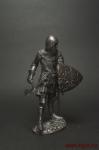 Средневековый рыцарь - Оловянный солдатик. Чернение. Высота солдатика 54 мм