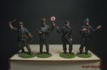 Набор оловянных солдатиков Немцы в под коробке - Набор оловянных солдатиков 4 шт. Высота солдатиков 54 мм.