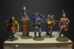 Набор оловянных солдатиков - Индейцы в под коробке - Набор оловянных солдатиков 5 шт. Высота солдатиков 54 мм.