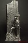 Немецкий солдат,2-ая мировая война,с винтовкой, у стены