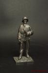 Немецкий солдат,1943-45 - Оловянный солдатик. Чернение. Высота солдатика 54 мм