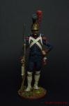 Рядовой роты гвардейских инженеров. Франция, 1811-15 - Оловянный солдатик коллекционная роспись 54 мм. Все оловянные солдатики расписываются художником вручную
