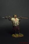 Чешский воин-утраквист с моргенштерном, 15 век - Оловянный солдатик коллекционная роспись 54 мм. Все оловянные солдатики расписываются художником вручную