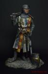 Средневековый рыцарь в парадном сюрко, 1300 - Оловянный солдатик коллекционная роспись 90 мм. Все оловянные солдатики расписываются художником вручную