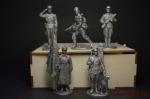 Набор оловянных солдатиков - Вторая Мировая в под коробке
