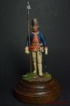 Унтер офицер Голштинского артиллерийского батальона 1756-61 - Оловянный солдатик коллекционная роспись 54 мм. Все оловянные солдатики расписываются художником вручную