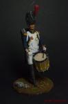 Барабанщик драгунских полков, Франция 1804-07 - Оловянный солдатик коллекционная роспись 54 мм. Все оловянные солдатики расписываются художником вручную