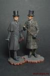 Шерлок Холмс и доктор Ватсон, 1890-е годы (2 фигуры) - Оловянный солдатик коллекционная роспись 54 мм. Все оловянные солдатики расписываются художником вручную