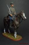 Красноармеец - кавалерист, 1939-1943 гг. - Оловянный солдатик коллекционная роспись 54 мм. Все оловянные солдатики расписываются художником вручную