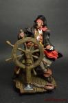Пират у штурвала, 1865 - Оловянный солдатик коллекционная роспись 54 мм. Все оловянные солдатики расписываются художником вручную