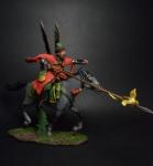 Конный стрелец - жилец - Оловянный солдатик коллекционная роспись 54 мм. Все оловянные солдатики расписываются художником вручную
