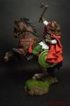 Конный викинг, 850 н.э. - Оловянный солдатик коллекционная роспись 54 мм. Все оловянные солдатики расписываются художником вручную