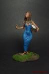 Египетская девушка, Александрия, 48 г до н.э. - Оловянный солдатик коллекционная роспись 54 мм. Все оловянные солдатики расписываются художником вручную