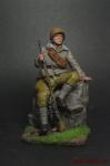 Снайпер Максим Пассар, 1942 г. - Оловянный солдатик коллекционная роспись 54 мм. Все оловянные солдатики расписываются художником вручную
