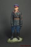 Младший лейтенант ГБ в неуставной кожанной куртке 1937-40 90 мм - Оловянный солдатик коллекционная роспись 90 мм. Все оловянные солдатики расписываются художником вручную