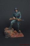Немецкий солдат,2-ая мировая война,с винтовкой - Оловянный солдатик коллекционная роспись 54 мм. Все оловянные солдатики расписываются художником вручную
