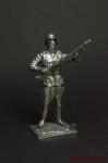 Немецкий солдат,2-ая мировая война,с пулемётом. - Оловянный солдатик. Чернение. Высота солдатика 54 мм