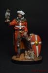 Сокольничий, период III Крестового Похода - Оловянный солдатик коллекционная роспись 54 мм. Все оловянные солдатики расписываются художником вручную