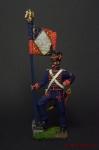Знаменосец гвардейских моряков Наполеона 1812 год - Оловянный солдатик коллекционная роспись 54 мм. Все оловянные солдатики расписываются художником вручную
