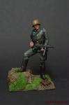 Немецкий солдат,2-ая мировая война,с автоматом - Оловянный солдатик коллекционная роспись 54 мм. Все оловянные солдатики расписываются художником вручную
