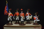 Набор оловянных солдатиков - Англичане 1812 в под коробке