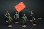 Набор оловянных солдатиков - Красноармейцы