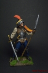 Швейцарский пеший воин, 15 век - Оловянный солдатик коллекционная роспись 54 мм. Все оловянные солдатики расписываются художником вручную