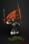 Русский дружинник-знаменосец 13 век. - Оловянный солдатик коллекционная роспись 54 мм. Все оловянные солдатики расписываются художником вручную