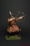 Монгольский лучник, 13 век - Оловянный солдатик коллекционная роспись 54 мм. Все оловянные солдатики расписываются художником вручную