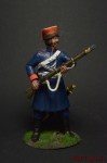 Рядовой калмыцких полков 1812-1814 - Оловянный солдатик коллекционная роспись 54 мм. Все оловянные солдатики расписываются художником вручную