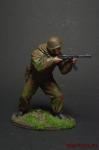 Боец ШИСБр, 1943-1945 - Оловянный солдатик коллекционная роспись 54 мм. Все оловянные солдатики расписываются художником вручную