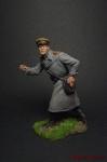 Старший лейтенант РККА, 1943-45 - Оловянный солдатик коллекционная роспись 54 мм. Все оловянные солдатики расписываются художником вручную