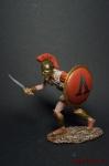 Гоплит в бою - Оловянный солдатик коллекционная роспись 54 мм. Все оловянные солдатики расписываются художником вручную