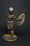 Миры Фэнтези: Зулусская женщина-воин - Оловянный солдатик коллекционная роспись 54 мм. Все оловянные солдатики расписываются художником вручную