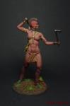 Миры Фэнтези: Ирокезская женщина-воин - Оловянный солдатик коллекционная роспись 54 мм. Все оловянные солдатики расписываются художником вручную