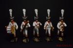 Набор оловянных солдатиков Оркестр линейной пехоты Франция 1812