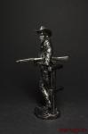 Ветеран Техасских рейнджеров, 1883 г. - Оловянный солдатик. Чернение. Высота солдатика 54 мм