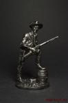 Молодой Техасский рейнджер, 1883 - Оловянный солдатик. Чернение. Высота солдатика 54 мм