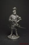 """Ермак, атаман казаков, """"покоритель сибири"""". 16 век - Оловянный солдатик. Чернение. Высота солдатика 54 мм"""