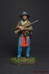 Индеец с ружьем - Оловянный солдатик коллекционная роспись 54 мм. Все оловянные солдатики расписываются художником вручную