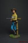 Ветеран Техасских рейнджеров, 1883 г. - Оловянный солдатик коллекционная роспись 54 мм. Все оловянные солдатики расписываются художником вручную