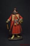 Стрелецкий голова, Россия 17 век - Оловянный солдатик коллекционная роспись 54 мм. Все оловянные солдатики расписываются художником вручную