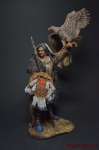Воин Дакота 90 мм - Оловянный солдатик коллекционная роспись 90 мм. Все оловянные солдатики расписываются художником вручную