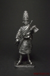 Сапер пионерной роты Назимова, 1799 (Швейцарский поход Суворова. - Не крашенный оловянный солдатик. Высота 54 мм